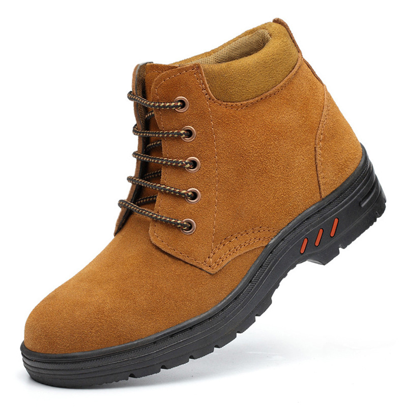 Men's Steel Toe Military Safety Shoes Combat Indestructible Ankle Work Shoes Labor Protection Boots