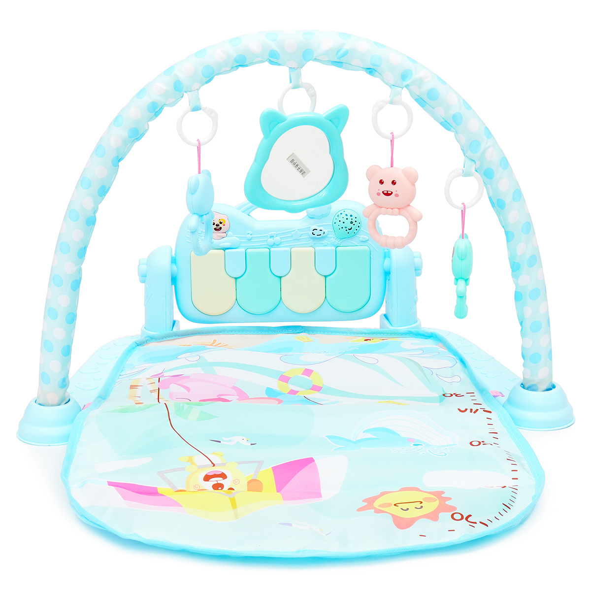 3-in-1 Baby Infant Gym Play Mat Fitness Music Piano Pedal Educational Toys USB
