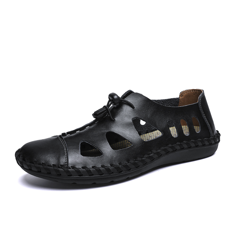 Men Casual Breathable Hollow Out Elastic Band Sandals