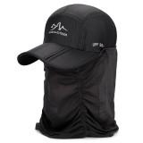 Unisex Outdoor Windproof Sunshade Baseball Cap Ultra-thin Quick-drying Hat Waterproof  Breathable Folding Bike Anti-mosquito Cap