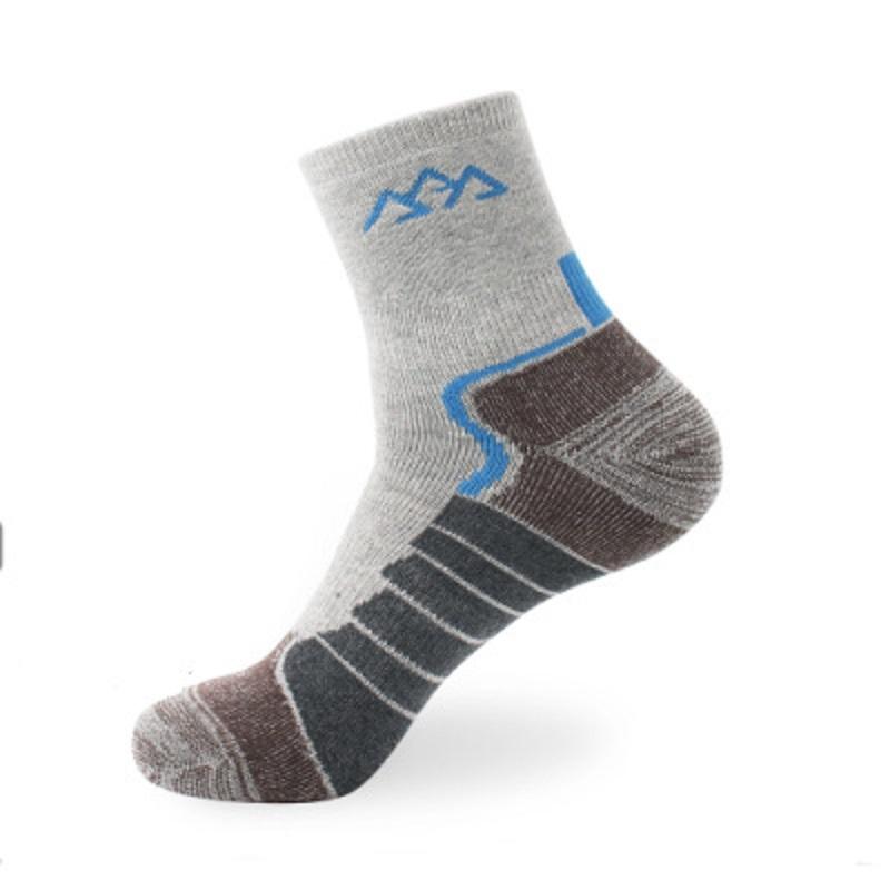 SANTO S014 1 Pair Men Cotton Tube Socks Thicken Winter Sock Soft Sports Fitness Hiking Running Skiing Socks