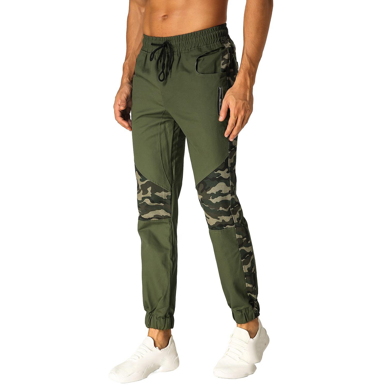 Homme Pantalon Sarouel Fitness Jogging Camouflage Combat Pants Sport Slim Soft Pants