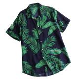 Mens Summer Vacation Beach Floral Printed Hawaiian Shirts