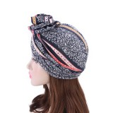 Women Summer Cotton Floral Chemo Turban Cap Bohemian Style Beanie Hat