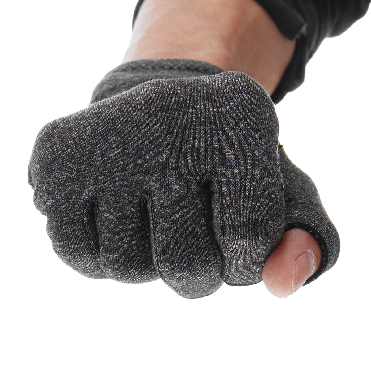 1 Pair Anti Arthritis Gloves Ease Pain Relief Gloves Hand Support Outdoor Fitness Half Finger Gloves