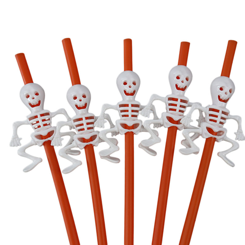 Halloween Pumpkin Straw Ghost Straws Halloween Decoration Straws Halloween Party Supplies Halloween Decorations