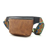Men Fashion Casual Phone Bag Ethnic Strap Hip-Hop Chest Crossbody Bag