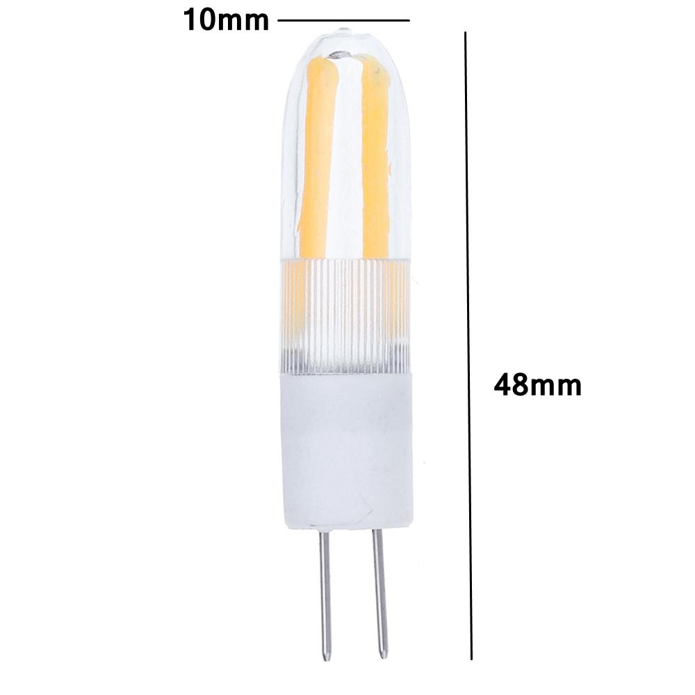 AC/DC12V G4 2W Warm White Pure White Ceramics Indoor LED COB Corn Light Bulb for Home Indoor Decor