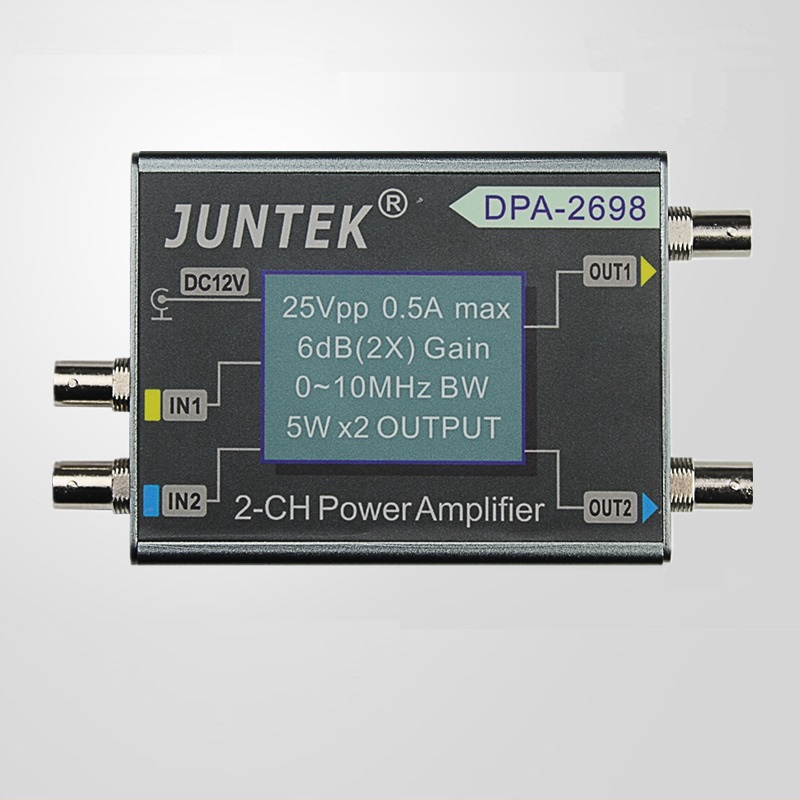 DPA-2698 10MHz High Power Dual Channel DDS Function Signal Generator Power Amplifier DC Power Amplifier