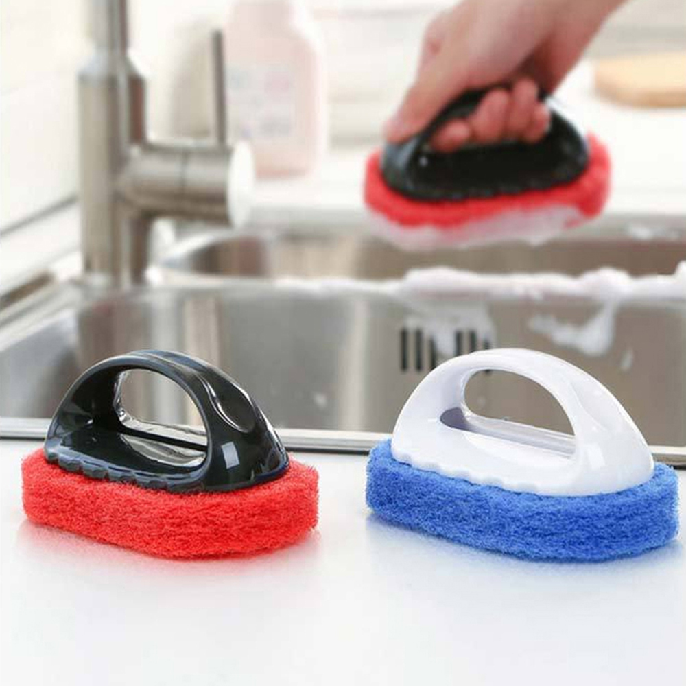 Kitchen Strong Decontamination Cleaning Sponge Cleaning  Brushes Bath Brush Wash Pot Cleaning Brush