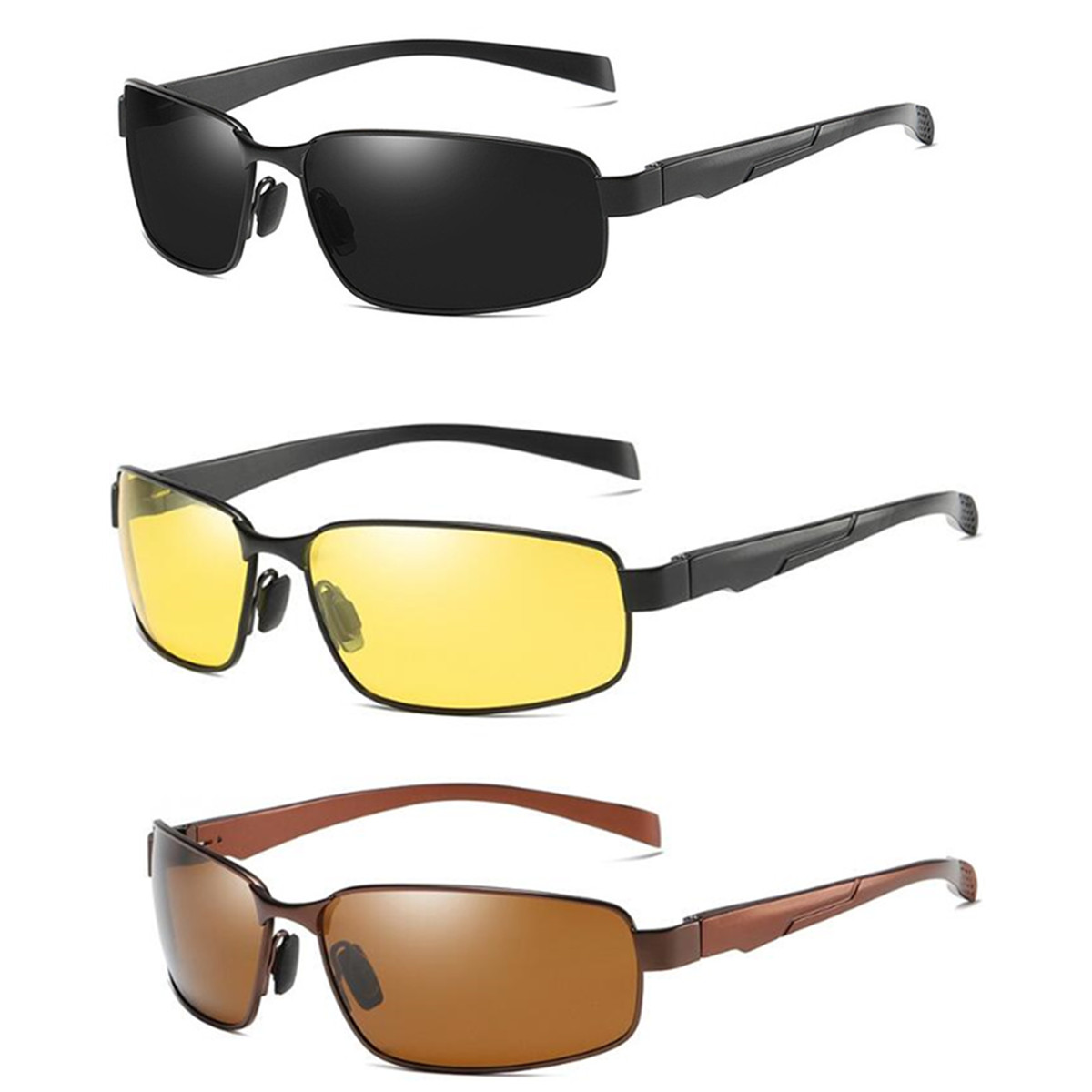 Polarized Sunglasses Anti-Glare Lens TAC Men Women Driving Night Vision Glasse