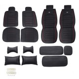 Leather Car Seat Cover 5-Seat SUV Car Seat Cushion Front & Rear Set