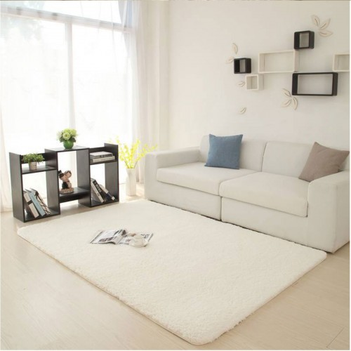 160x230cm Fluffy Rug Anti-Skid Rug Living Room Home Carpet Soft Cosy Bedside Floor Mat