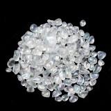 50g 7-9mm Transparent Moonstone Irregular Gemstone Decorations Stone Minerals Polished Specimen Demagnetization
