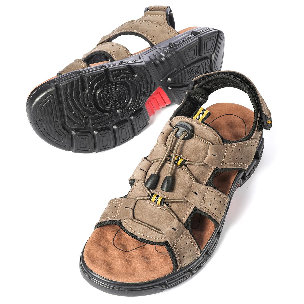 Gracosy Mens Summer Sandals Lightweight Non-Slip Hiking Trekking Walking Flat Sandals Shoes Athletic Outdoor Sport Sandals Casual Beach Fisherman Sandals