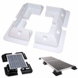 4Pcs Solar Panel Mounting Corner Drill-Free Glue Mounting Bracket Corner Frame Kit