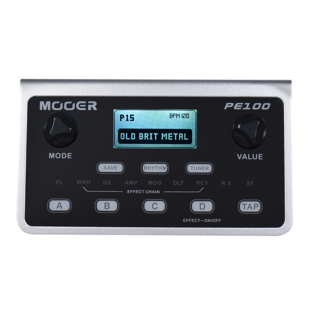 MOOER PE100 Portable Multi-effects Processor Guitar Effects Pedal