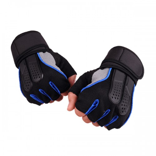 1 Pair KALOAD Tactical Glove Rubber Military Sports Climbing Cycling Fitness Anti-skid Gloves Half Finger Gloves