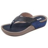 Women Flip Flop Sandals Beach Rhinestone Platform Slippers