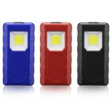 3W Portable COB Pocket Work Light Magnetic Pen Clip Camping Lamp Car Inspection Flashlight