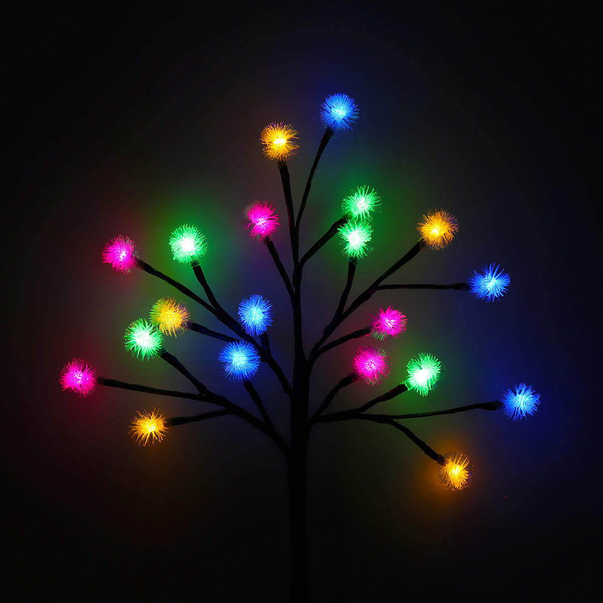 Outdoor Waterproof Solar Powered Pinecone Shape Tree Branch LED String Holiday Light for Patio Decor