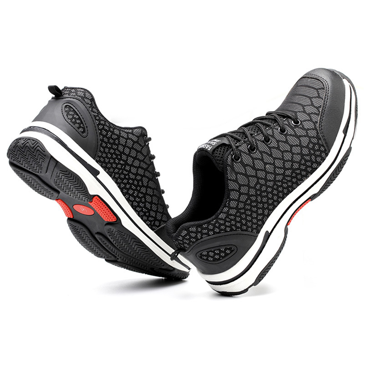 Men Luminous Running Shoes Outdoor Hiking Climbing Shoes Breathable Work Shoes