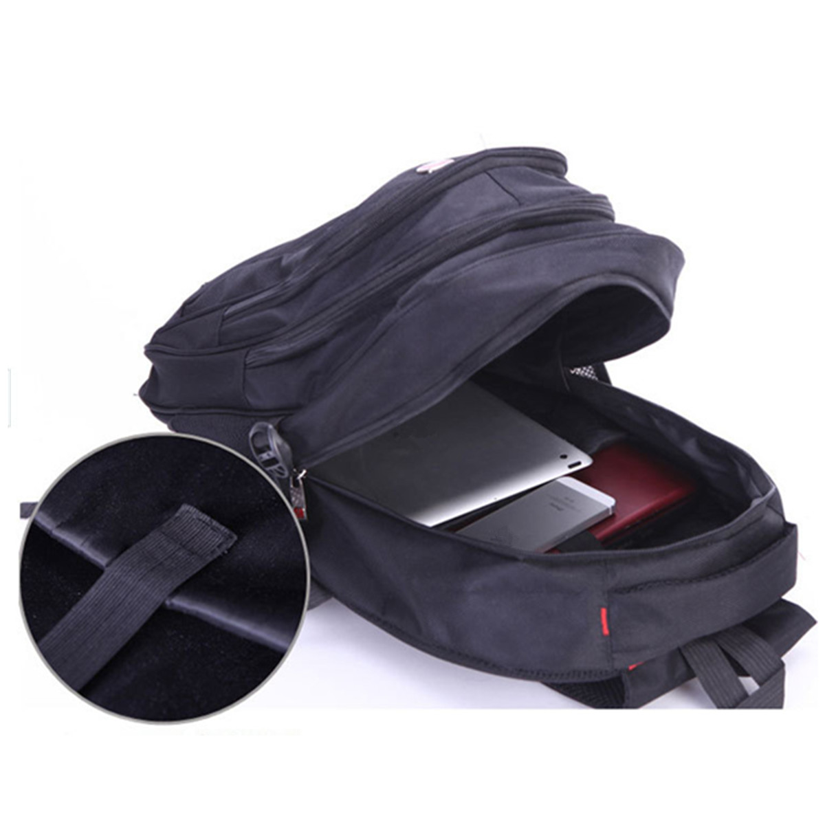 21L Men Waterproof Nylon Backpack Rucksack 15inch Laptop Satchel School Sports Travel Shoulder Bag