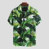 Mens Summer Hawaiian Holiday Floral Printed Fashion Casual Loose Shirts