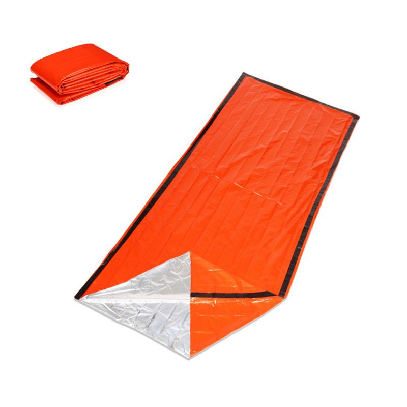 IPRee 200x90cm PE Aluminum Film Single Sleeping Bag Folding Emergency First Aid Mat With Storage Bag