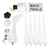 48V 800W Wind Turbine 3/5 Blades White Wind Generator With Charge Controller