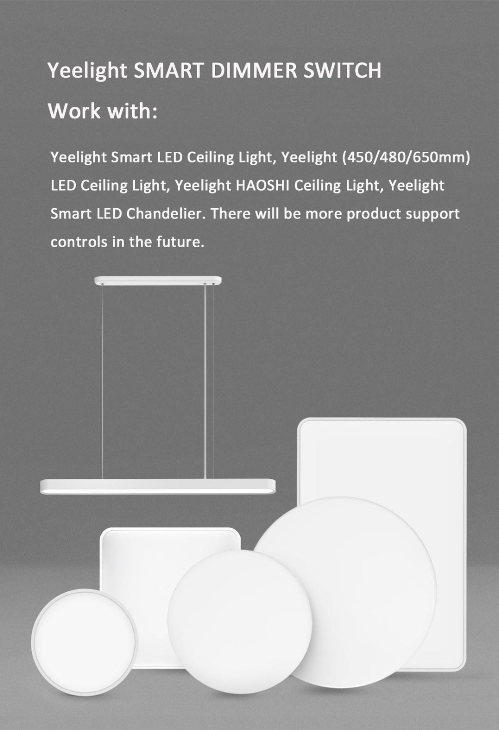 Xiaomi Yeelight Smart Bluetooth Dimmer Wall Light Switch