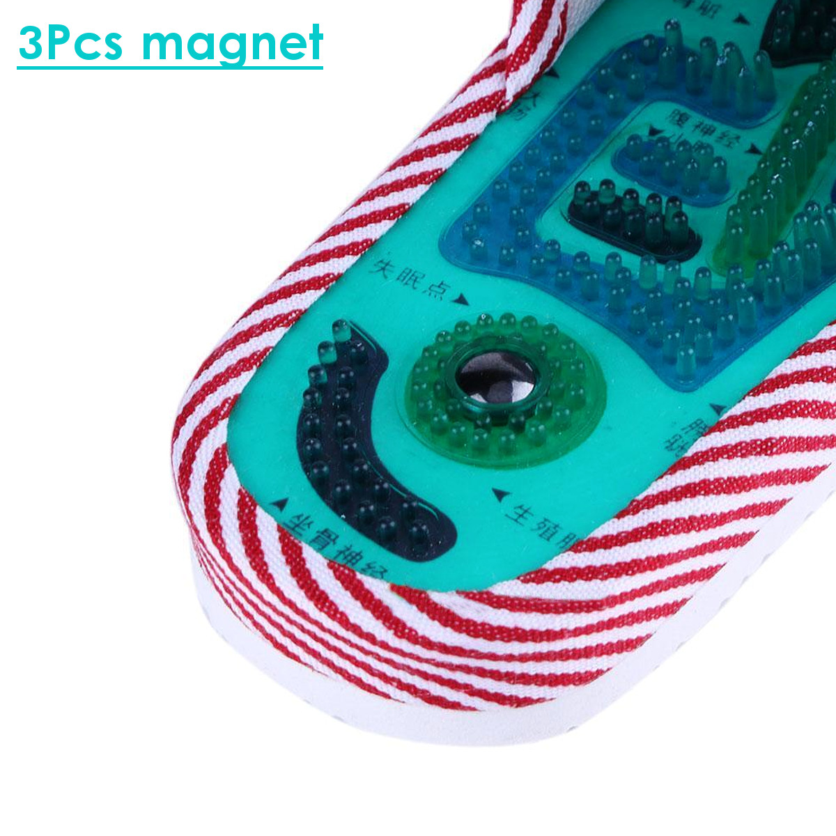 1 Pair Foot Massage Slipper Health Feet Care Shoes Sandals Magnetic Pad Acupuncture