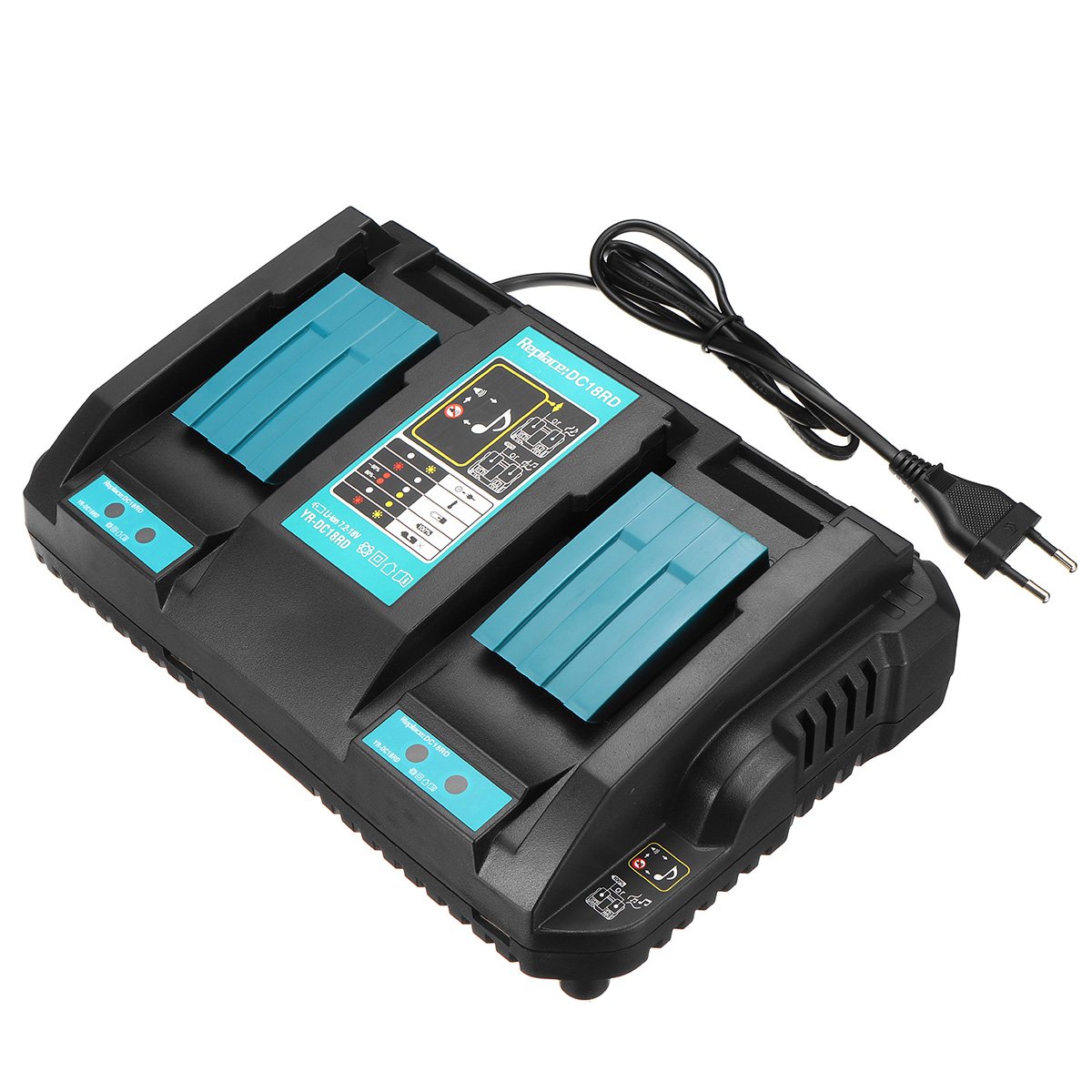Fast Rapid Double Twin Battery Charger USB Port For Makita DC18RC LXT 14.4V//18V