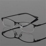 Eye Glasses Half Rimless Glasses Frame Eyeglasses Clear Lens Metal&TR90 Optical Glasses RX Spectacles