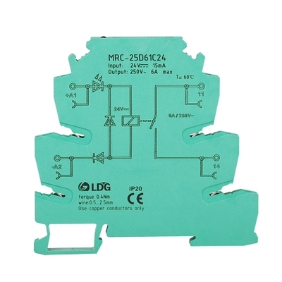 24V Relay Board Solid State Relay MRC-25D61C24 Intermediate Relay Ultra-thin Relay Module