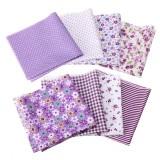 8Pcs/Set Cotton Fabric Assorted Pre Cut Squares Quilt Pillow Handcraft  Home Decor