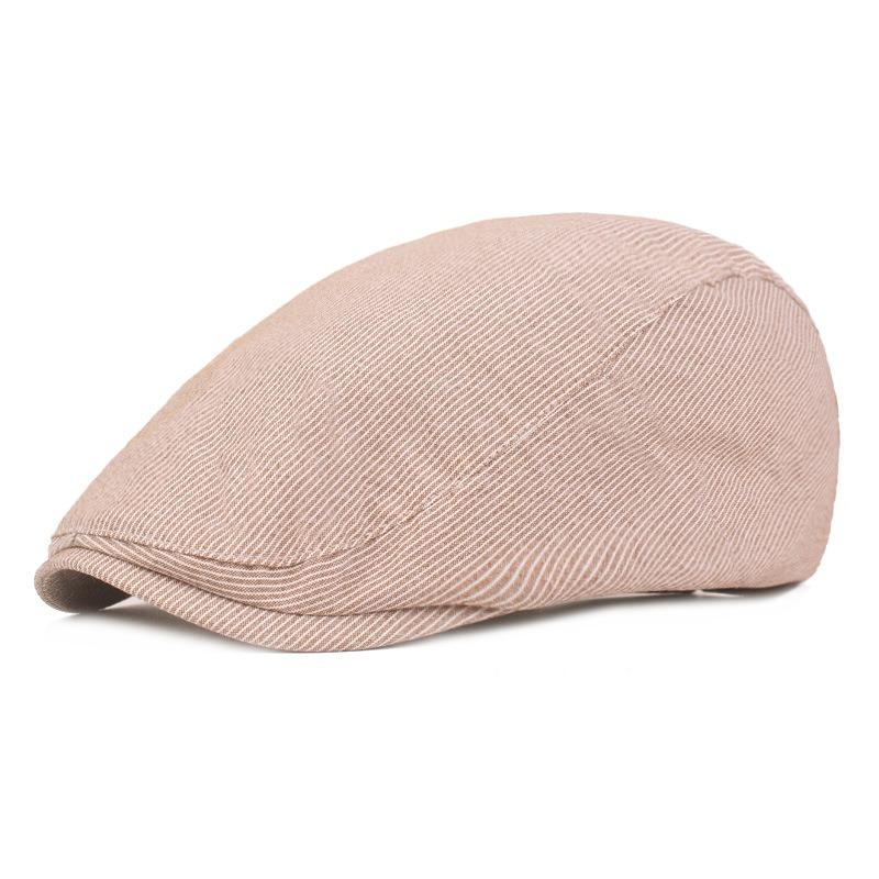 Men Cotton Double-Sided Adjustable Painter Beret Caps Newsboy Cabbie Flat Hat