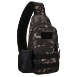 Men Waterproof USB Charging Multi-functional Crossbody Bag Tactical Bag