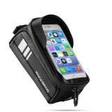 ROCKBROS 017-2 1L Bike Bag Bicycle Front Tube Bag Waterproof Portable Cycling Storage Bag Phone Touch Screen Bag