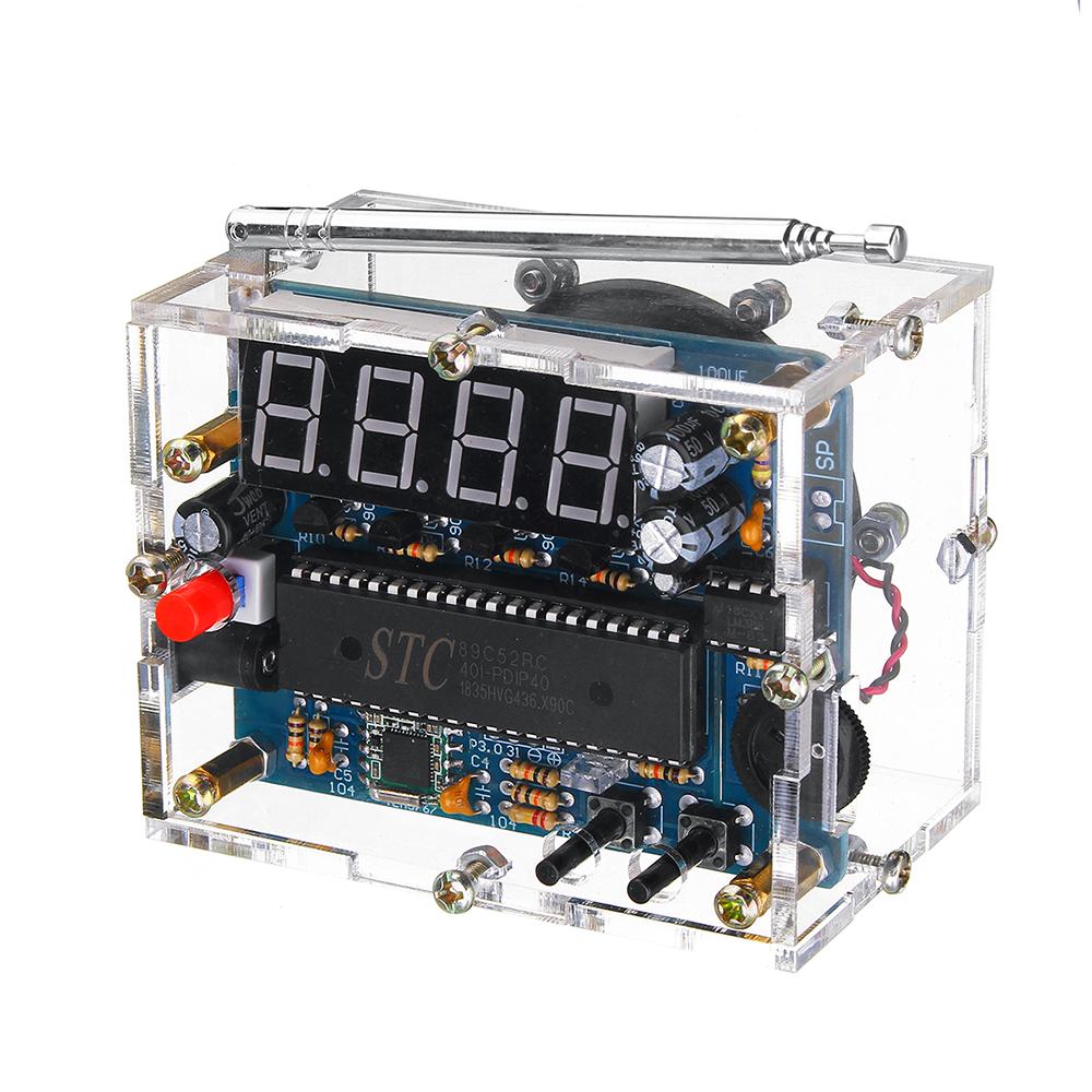 TEA5767 DC 4.5V-5.5V Mini Digital FM Radio 87MHZ-108MHZ 2W 8ohm Speaker Electronics
