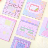 6 Pcs/pack Colorful Sticky Notes Cartoon Love Game Pad Sticky Memo Notes Gift Stationery Office Sticker School Supplies