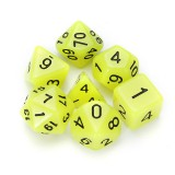7 Pcs Luminous Polyhedral Dices Multi-sided Dice Set Polyhedral Dices With Dice Cup RPG Gadget