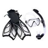 Professional Snorkel Set Diving Mask Underwater Scuba Mask Swim Fins Free Breathing Dry Top Snorkel for Adult Youth
