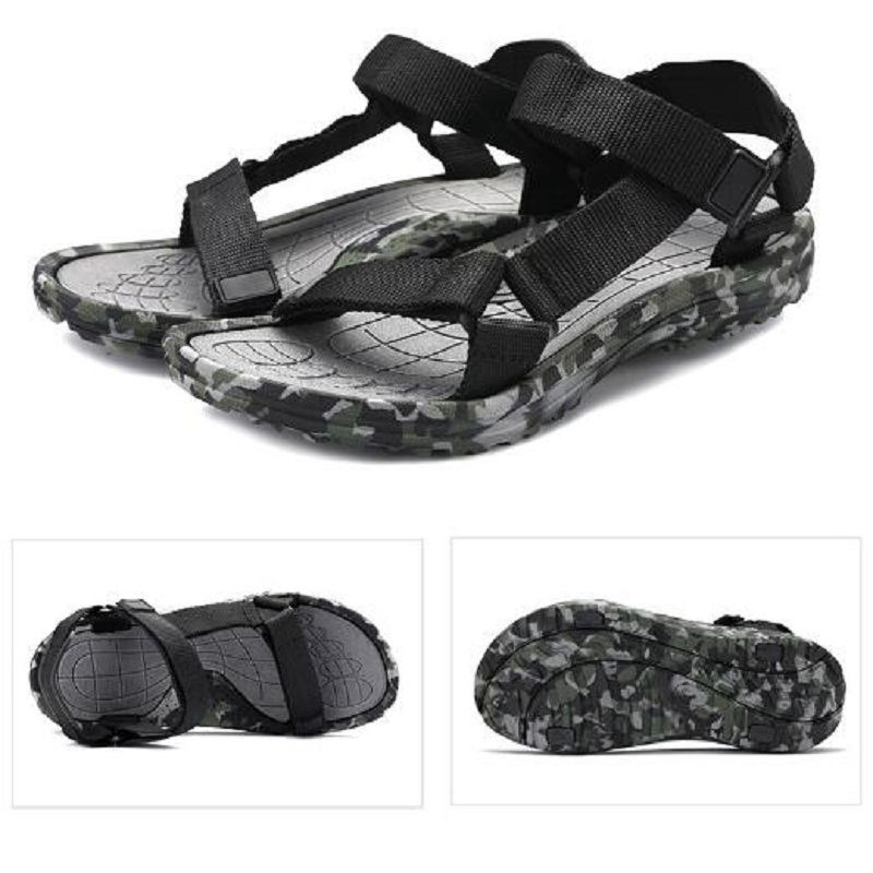 Men Casual Sandals Camo Fisherman Outdoor Shoes Beach Hiking Slippers