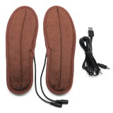 USB Electric Heating Insole Winter Warmer Shoe Feet Heater Breathable Washable Foot Pads