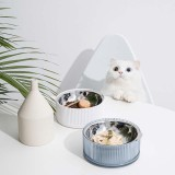 FURRYTAIL Food Grade Antibacterial Stainless Steel Cat Food Bowl Detachable Pet Bowl