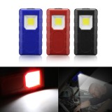 3W Portable COB Pocket Work Light Magnetic Pen Clip Camping Lamp Car Inspection Flashlight