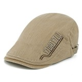 Men Cotton Letter Embroidered Double-Sided Adjustable Painter Beret Hat Newsboy Flat Caps