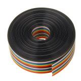 3pcs 5M 1.27mm Pitch Ribbon Cable 20P Flat Color Rainbow Ribbon Cable Wire Rainbow Cable