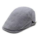 Men Women Cotton Retro Plaid Beret Hat Casual Adjustable Newsboy Cabbie Caps